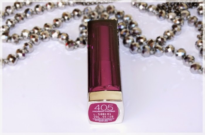 batom roxo color sensational maybelline