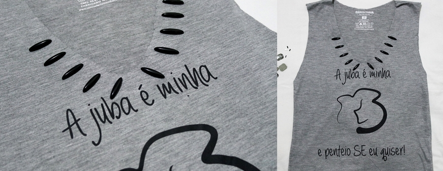 como customizar camiseta - DIY - Blog Dicas da Fê - camiseta be curly II